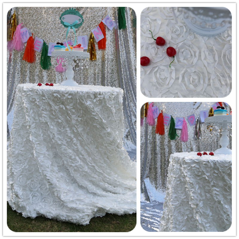 """108"""" Round Wedding Tablecloth Glamorous Tablecloth Wedding Cake Tablecloth/Event/Party/Banquet Table Decoration(China (Mainland))"""