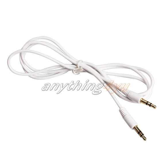 ONLY 3.5mm Audio Adapter Aux Auxiliary Cable Cord for iPod MP3 Car White(China (Mainland))