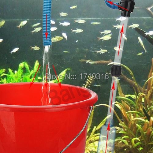 High Quality Electric Battery Syphon Auto Fish Tank Vacuum Gravel Water Pump Filter Cleaner Washer Hot Sale New Home Aquarium(China (Mainland))