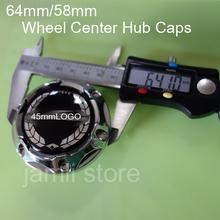 4pcs/lot 64mm/58mm Wheel Center Hub Caps Car Accessories Wheel Center Cap Cover Free shipping(China (Mainland))