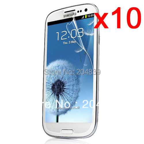 10X New CLEAR LCD Screen Protector Guard Cover Film For Samsung Galaxy S III S3 i9300