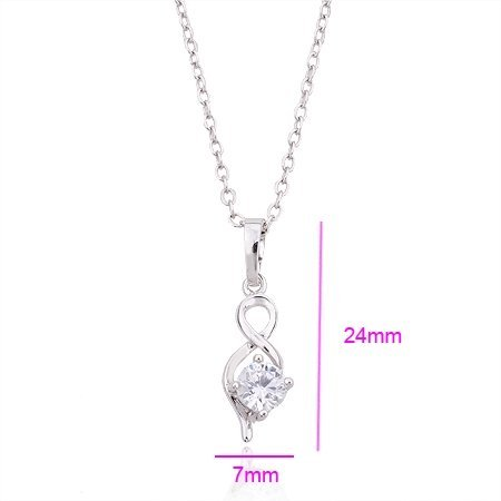 QUALITY PLATINUM PLATED 2.0 CT PRINCESS CUT GRADE AAA CZ DIAMONDS PENDANT, COME WITH 1 PC FREE CHAIN & GIFT BOX! (110517-02)