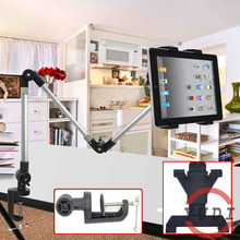 2015 Flexible Adjustable Tablet Mount Stand Holder 4-12 inch for tablet pc and cellphone holder aluminum tablet desktop stand YD