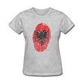 Albania Fingerprint T Shirts Woman Short Sleeve T Shirt Cannon Brand Crew Neck Female Tee Shirts