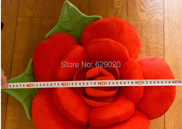 New Cute 1Pcs 50 Cm Plush Cotton Rose Pillow Cushion Flower Cushions As a Christmas Gift 6Colors Available(China (Mainland))