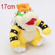 17-24 cm Super Mario Land 3D Osso Kubah dragão De Brinquedo De Pelúcia Reforçar Ossos Secos de pelúcia macia stuffed dolls Bowser Koopa(China)