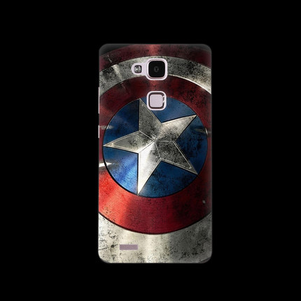 Huawei Ascend Mate 7 Case Batman Captain America Series PC Frosted Hard Cover For Huawei Mate 7 Protector Mobile Phone Cases(China (Mainland))