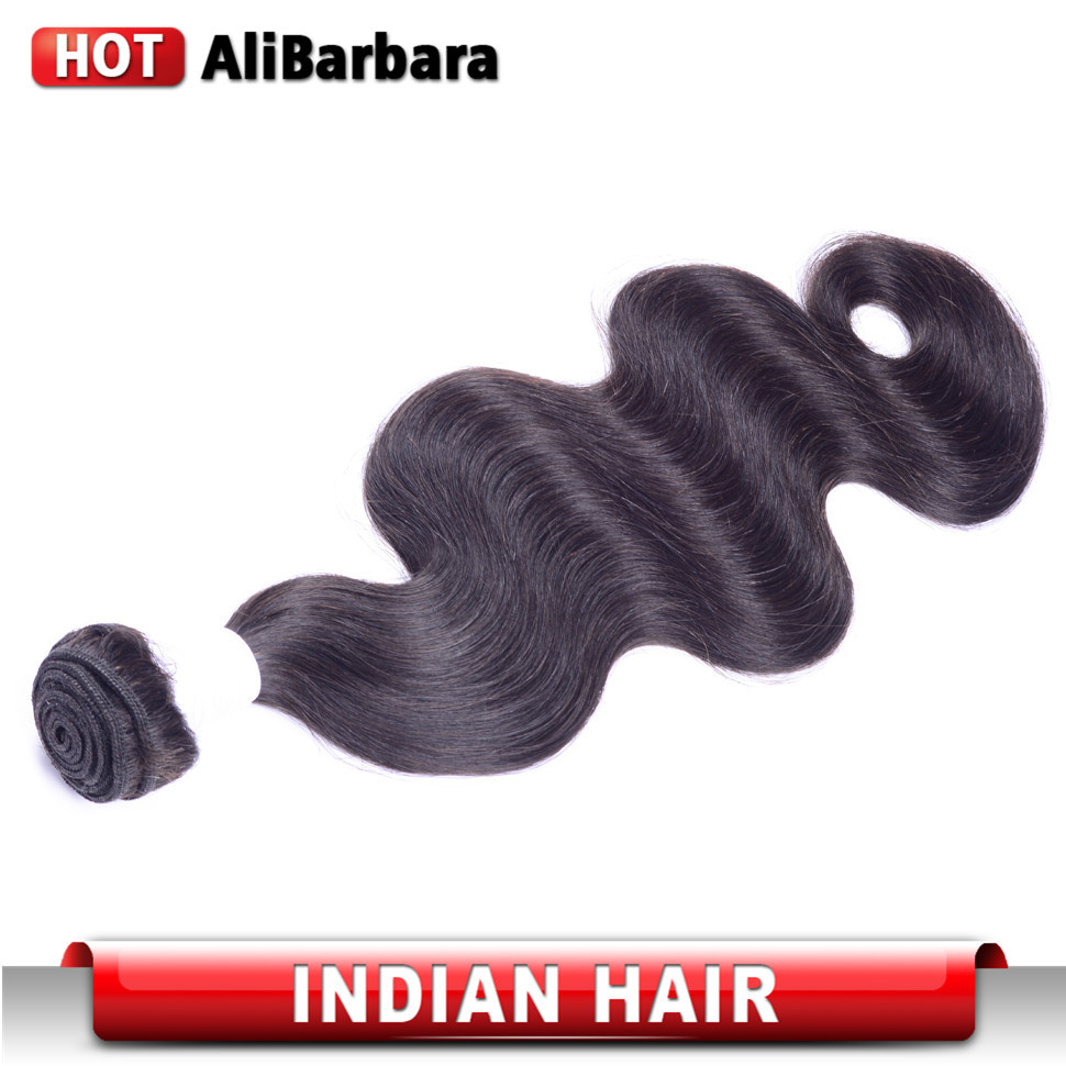 Фотография 1 pcs Indian Virgin Hair Body Wave Indian body wave #1b Human Hair Weave Unprocessed Virgin Indian Hair No Shedding No Tangle