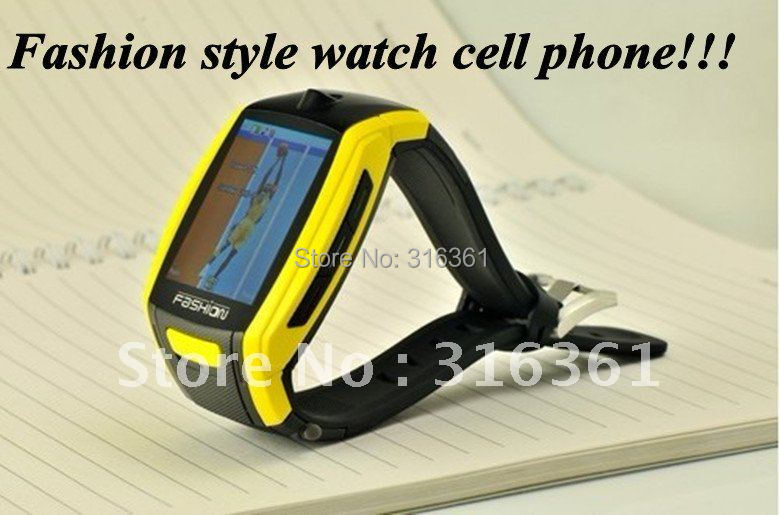 "1.8""TFT inch touch-screen Fashion style watch cell phone with FM Stylus and Muti-languages Free shipping!!!(China (Mainland))"