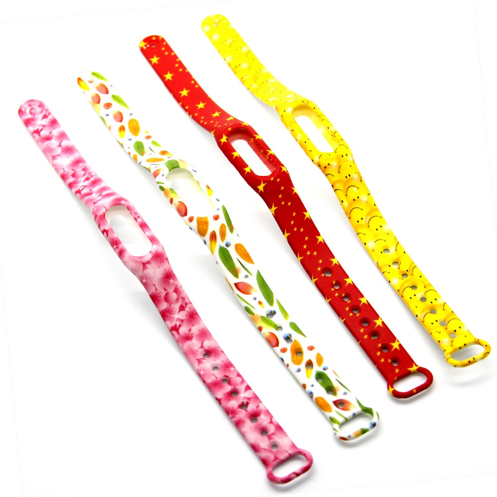 1pcs Popular Patterns For Xiaomi Mi Band Smart Wristband Silicone Belt Strap For Xiaomi Miband Replacement Band Bracelet(China (Mainland))