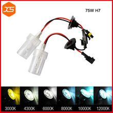 Buy 75W HID H7 Xenon HID H1 H3 H8 H9 H11 9005 9006 HB3 HB4 Replacement Lamp Bulb Headlight Lights 4300K 6000K 8000k hb4 9006 hid for $18.60 in AliExpress store
