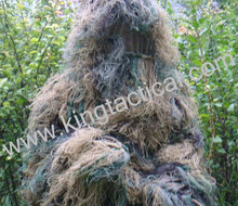 Free shipping Bionic Ghillie Suits ,maple leaf camouflage, hunting suit for Recon, Paintball, Airsoft, Photographing, Military(China (Mainland))