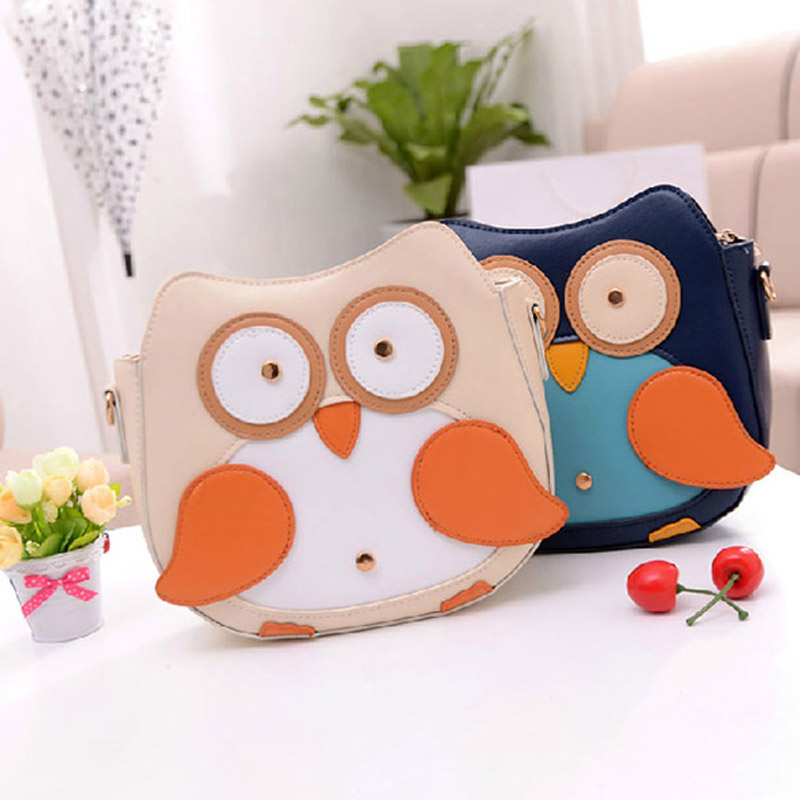 Гаджет  Women Owl Pattern Faux Leather Small Cross Body Bag Shoulder Bag Apricot PTSP None Камера и Сумки