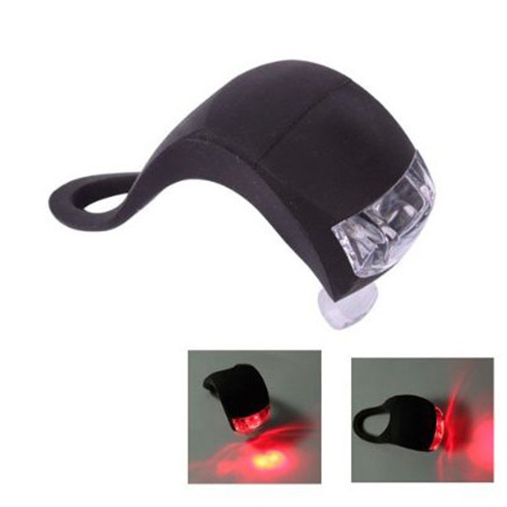 Red LED Bicycle Light Head Front Rear Wheel Safety Bike Light Lamp Waterproof(China (Mainland))