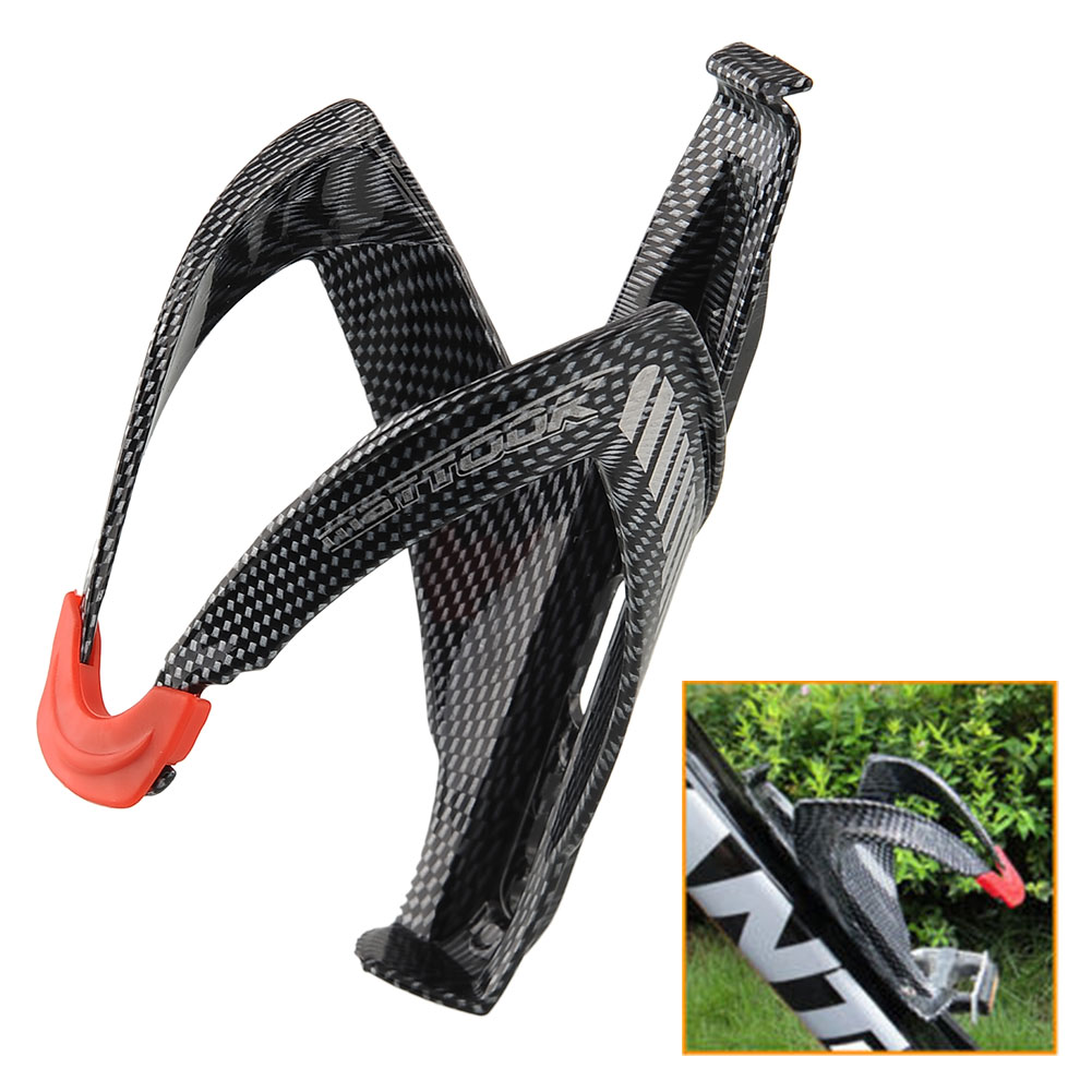 Carbon Fiber Road Mounting Bicycle Bike Cycling Outdoor Water Bottle Holder Holding Rack Cage Lightweight Durable Useful(China (Mainland))