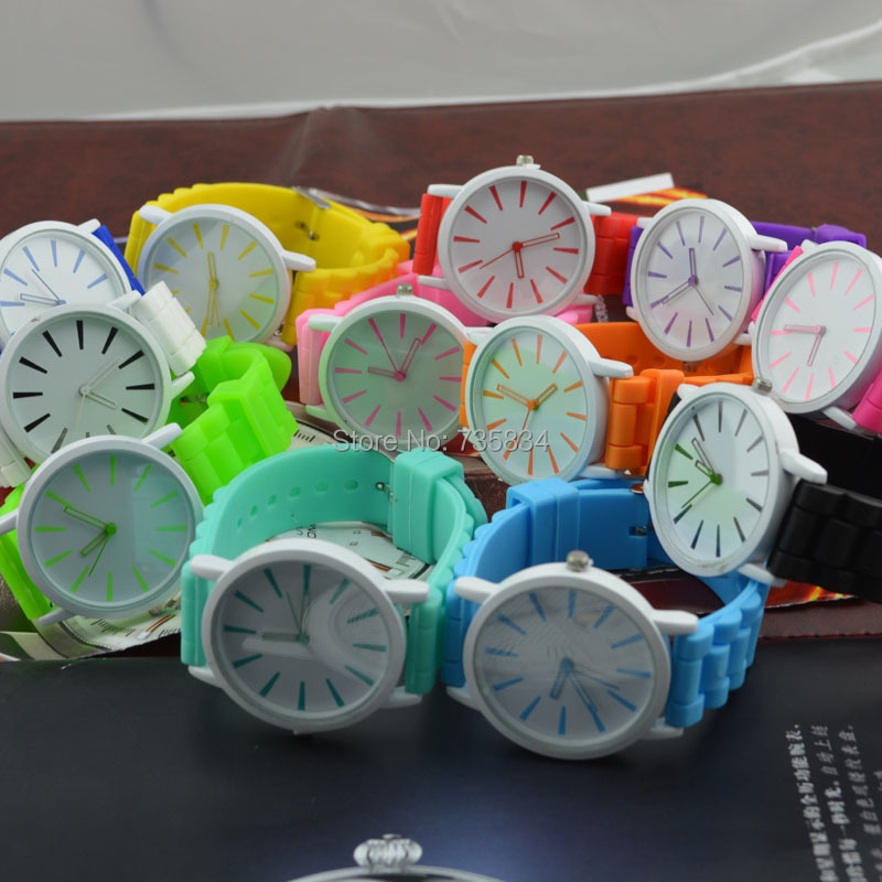 Wholesale 500pcs/lot Mix15 colors Ladies Jelly Watch Cream Hollow pointer Silicone watch GW065<br><br>Aliexpress