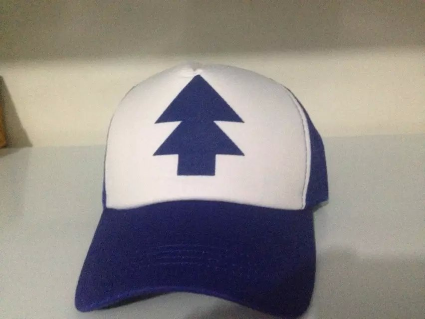 2015 New Curved Bill BLUE PINE TREE Dipper Gravity Falls Cartoon Hat Cap Trucker Free Shipping