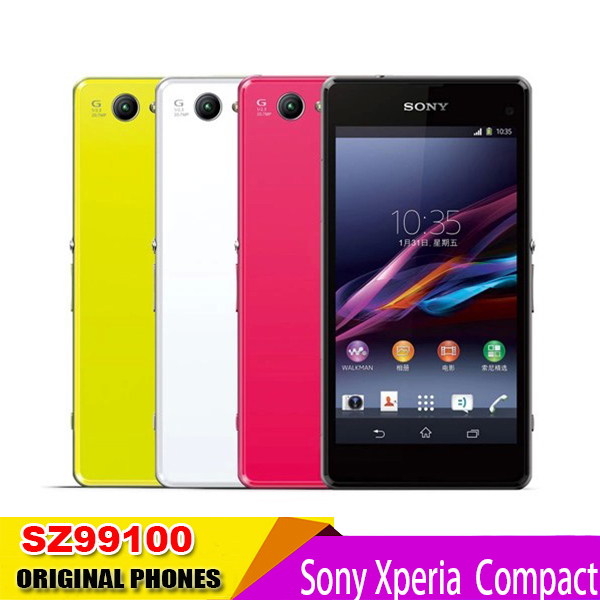 """Sony Xperia Z1 Compact D5503 Original Unlocked Mobile phone 4.3"""" GSM 3G&4G Android Quad-Core 20.7MP WIFI GPS 2GB RAM 16GB ROM(China (Mainland))"""