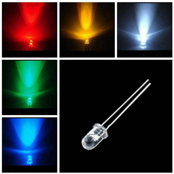 BidWard Store 10 x Round LED 3MM Ultra Light Lamp 3.2 - 3.4V 1500 - NEW 2000MCD(China (Mainland))
