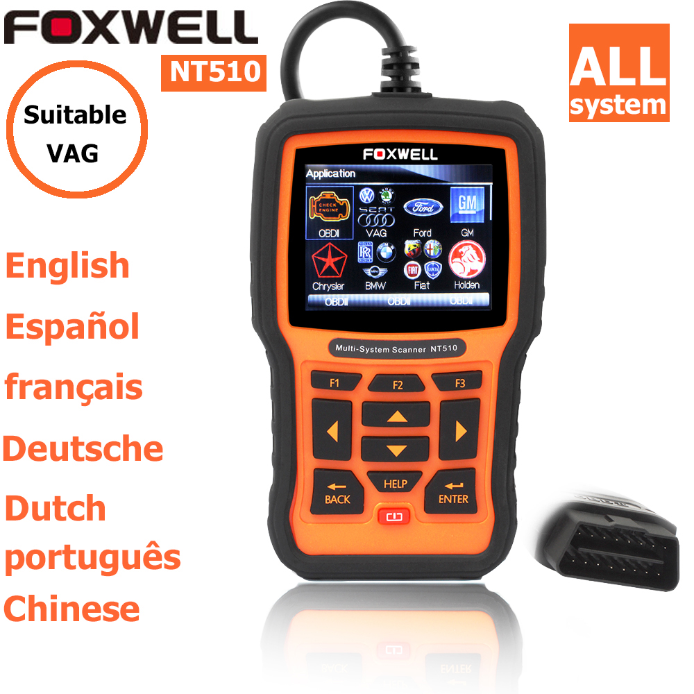 foxwell nt 510 for vw vag audi seat skoda obd2 autoscanner diagnostic scanner code readers scan tools OBD2 OBD II Car Tool(China (Mainland))