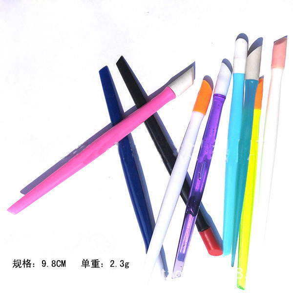 Free Shipping, Mini.Plastic Nail Cleaner Charp End for Dust Remover Manicure tool Gift 10pcs(China (Mainland))