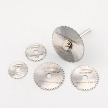 2015 Hot Cool 6 unids Mini HSS hoja de sierra Circular cortador disco de diamante Circular abrasivo Mini taladro