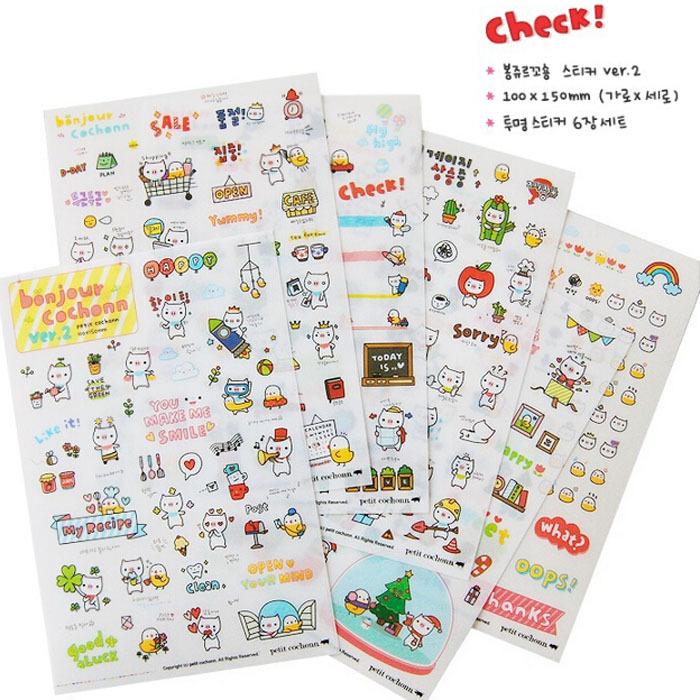 Гаджет  1Pack / 6 Sheets Lovely Pig Transparent Planner Calendar Book Cute Diary Sticker Scrapbook Decoration Free Shipping None Офисные и Школьные принадлежности