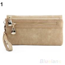 Lady Women Wallet Wristlet Card Coin Holder Long Clutch Zipper Purse 0985