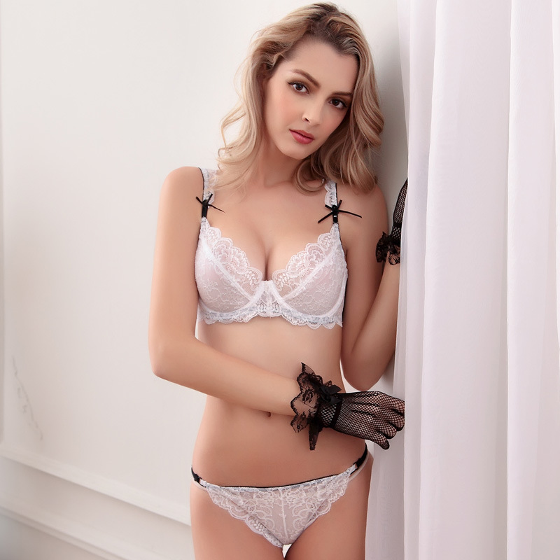 Europe branded summer slim lace sexy sexy ladies without for Without bra photos home