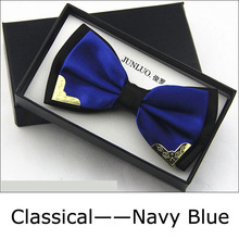 2015 Brand Fashion Designer High Quality Business Wedding Official Party All-Match Silk Bow Tie for Men Ties 19805(China (Mainland))