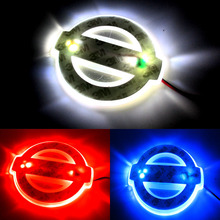 New Car Styling 2D LED Light Logo Auto Emblems 3Colors For Nissan Qashqai Sylphy Sentra Teana Altima Best quality free shipping(China (Mainland))