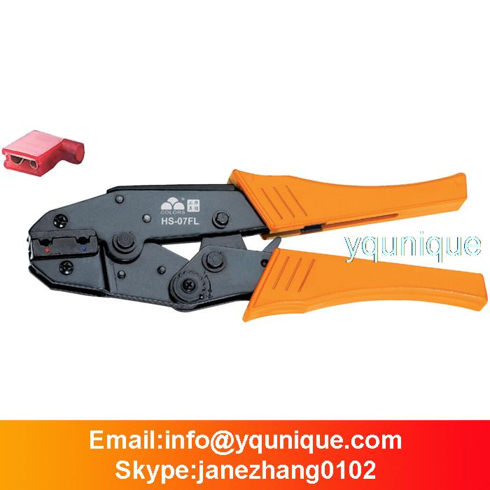 HS-07FL 0.5-2.5mm2 Terminal Crimping Tool flag insulated female Crimper(China (Mainland))