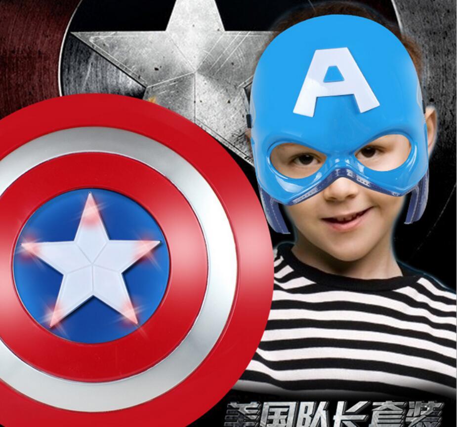 2016 Super Hero Alliance The Avenger Captain America Shield Helmet Cosplay for Kids Toy Action Figure Model Plastic Escudo(China (Mainland))