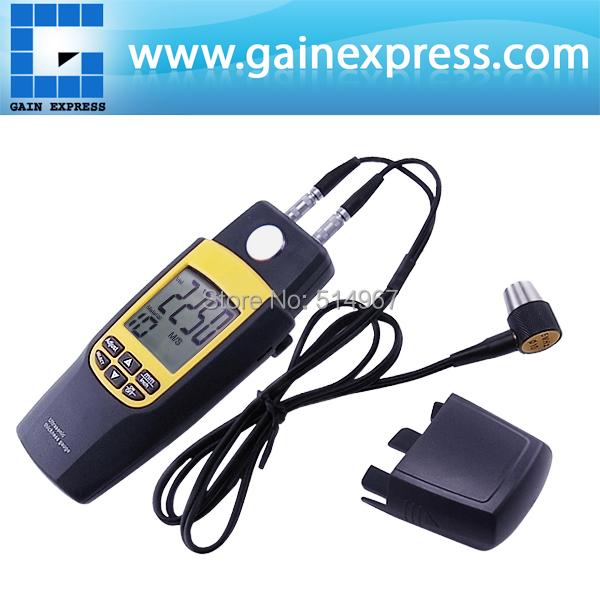 Handheld Digital Dual Ultrasonic Thickness Meter Gauge Tester Velocity 1.2~220mm + Built-in calibration Metal Block