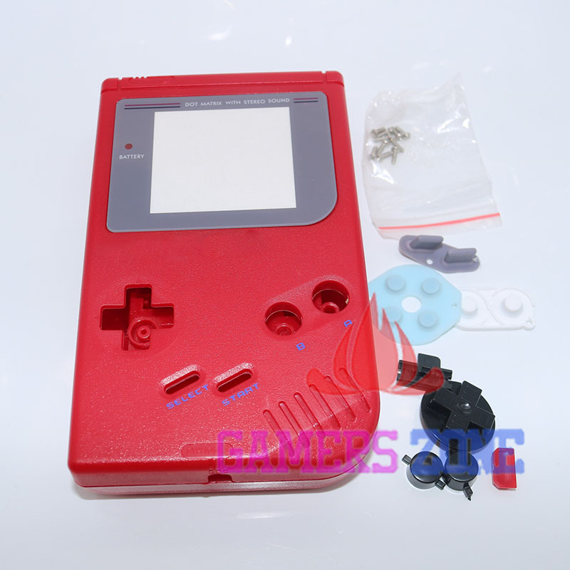 For Nintendo Gameboy Game Boy Classic GB Console Housing Shell Case Cover W/ Silicon Conductive Rubber Pad<br><br>Aliexpress