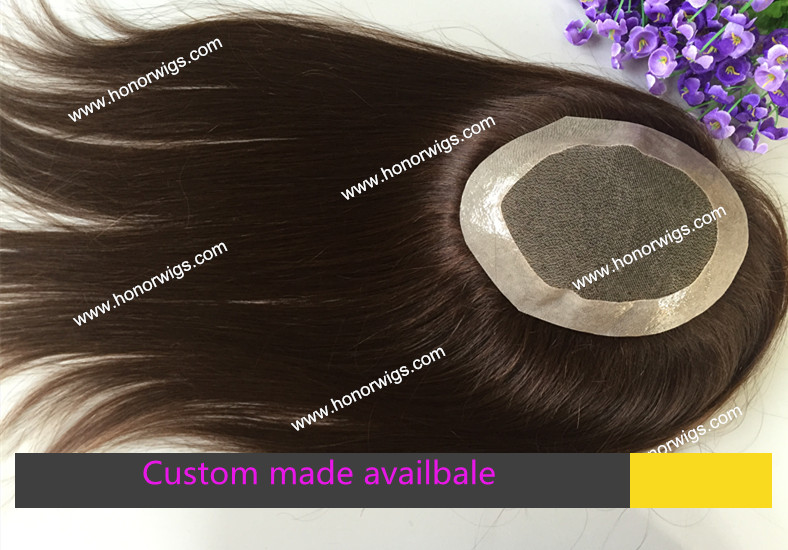 dark brown color #3 cap design 6x8 straight hair indian hair womens toupee in stock HT256 <br>