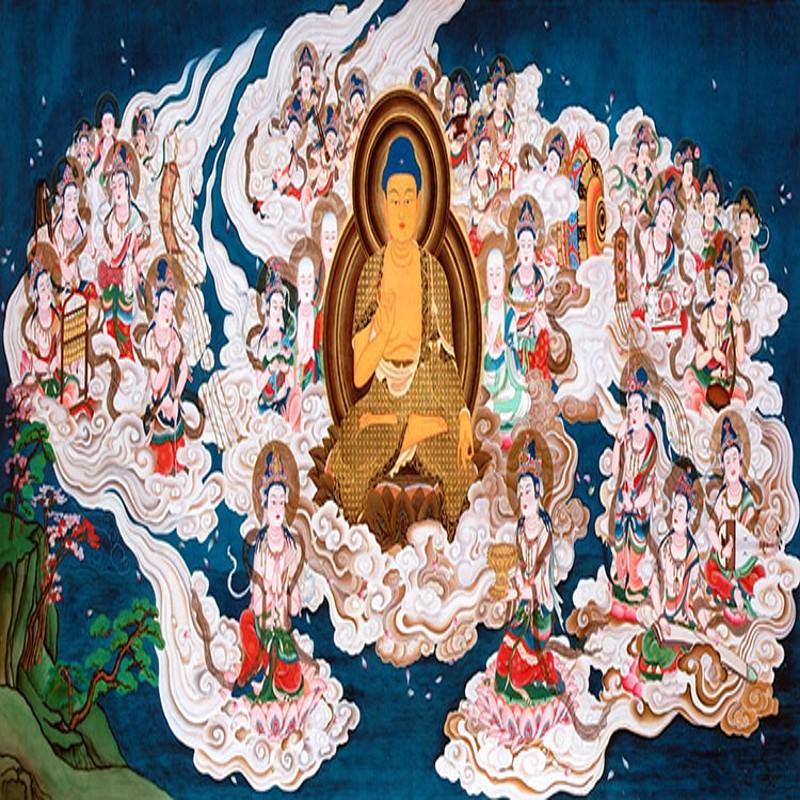 Acquista all 39 ingrosso online buddha bar hotel da grossisti for Buddha mural wallpaper