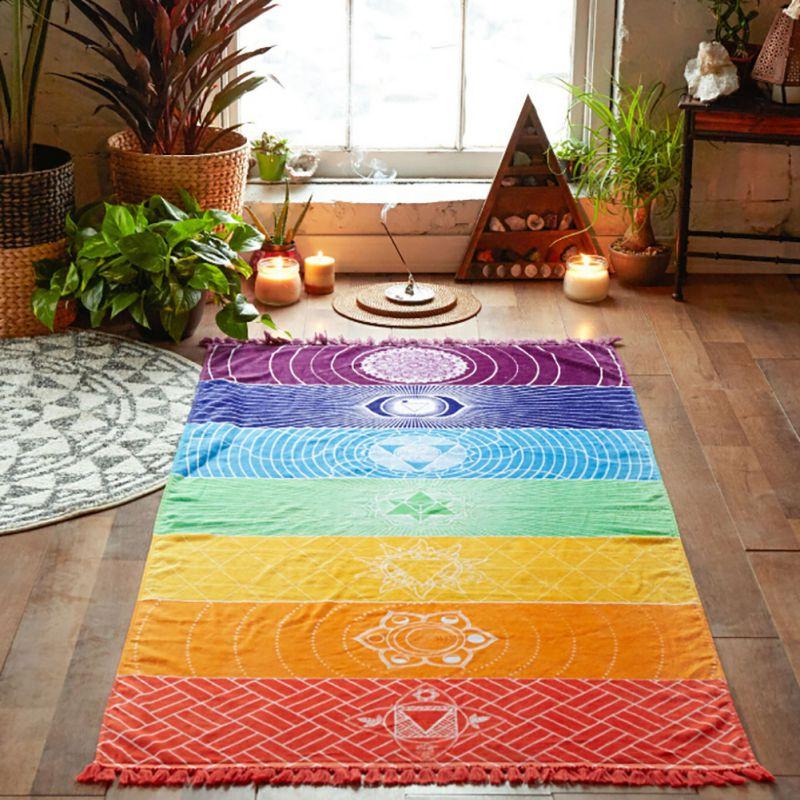 2017 New Summer Wall Hanging Mandala Mandala Blanket Elephant Tapestry Rainbow Stripes Travel Grassland Beach Towel(China (Mainland))