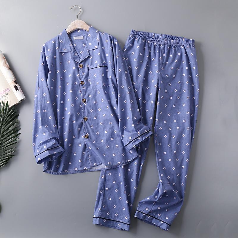 Для мужчин тканая пижамы из чистого хлопка мужские большого размера; пикантные IMG_7889