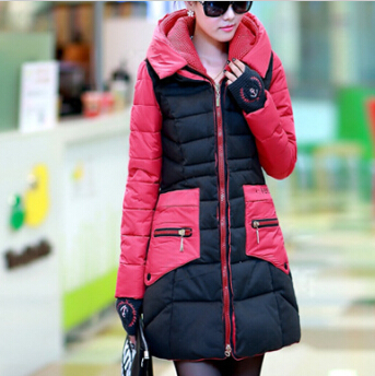 Women Coats Winter Fashion 2014 New Woman Winter Coat Slim Long Casual Jacket Down Female Parka Coat Hooded Outdoor Jacket JX122Одежда и ак�е��уары<br><br><br>Aliexpress