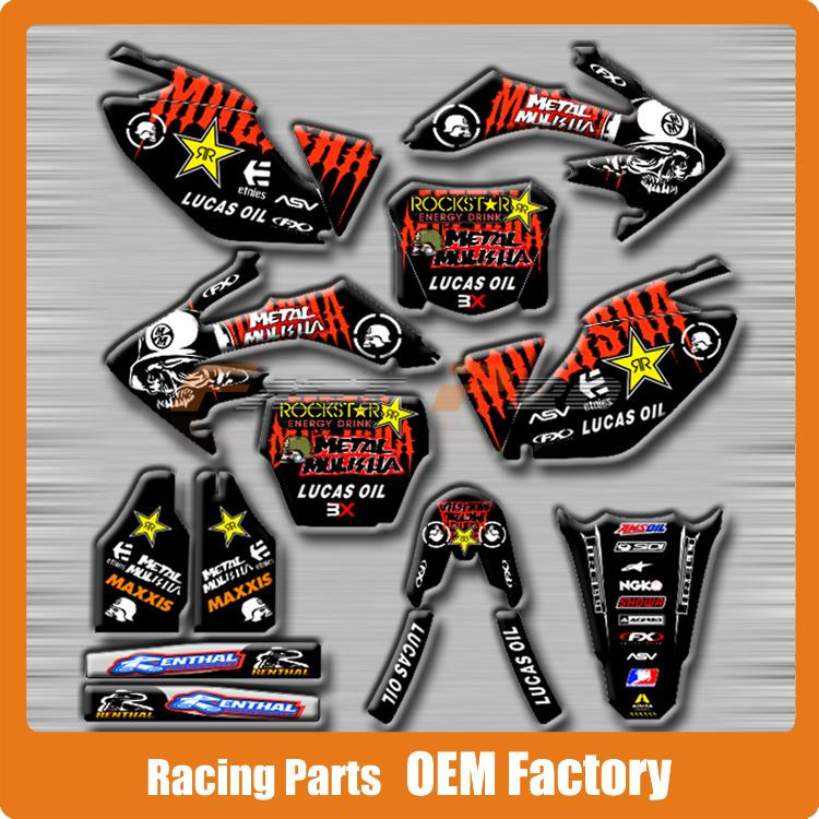 Customized Team Graphics & Backgrounds Decals 3M Stickers Metal Mulisha CRF CRF250R CRF250 06-09 Road Motorcycle