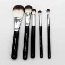 Birthday Gift Original Professional Synthetic 5pcs For Face and Eye Advanced Airbrush Artis Makeup Brushes Set With Pu brush Bag(China (Mainland))