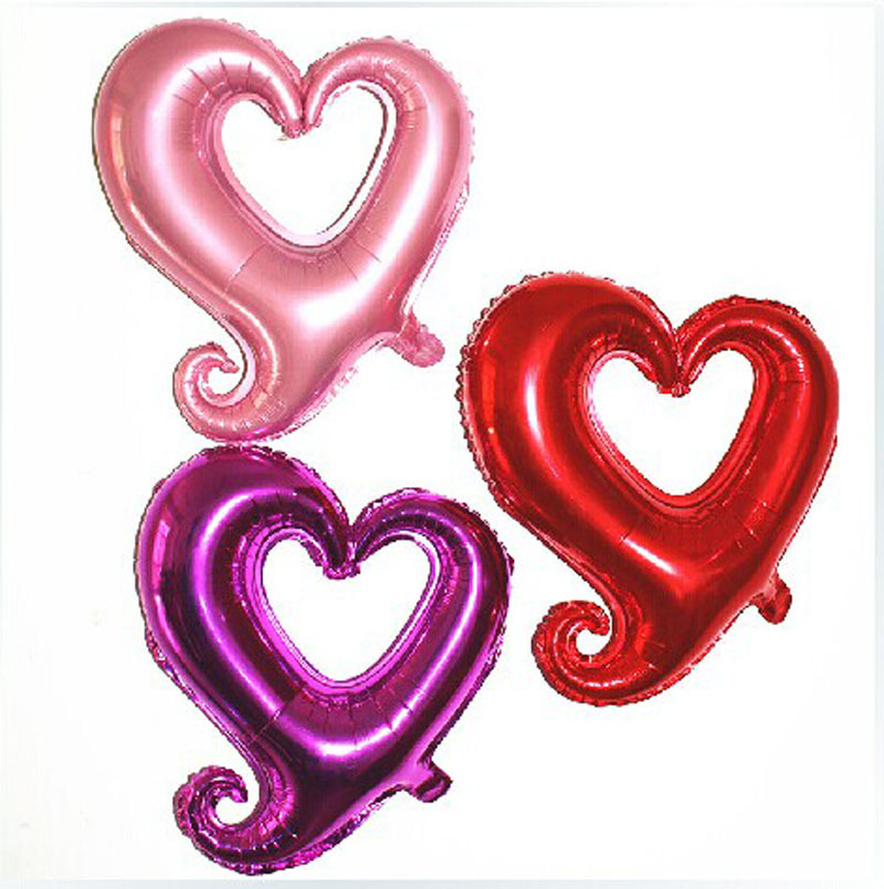 30 Inch Large Heart Shape Foil Balloons Double Color Heart Shape Balloon Wedding Birthday Party Celebration Decoration Balloon(China (Mainland))