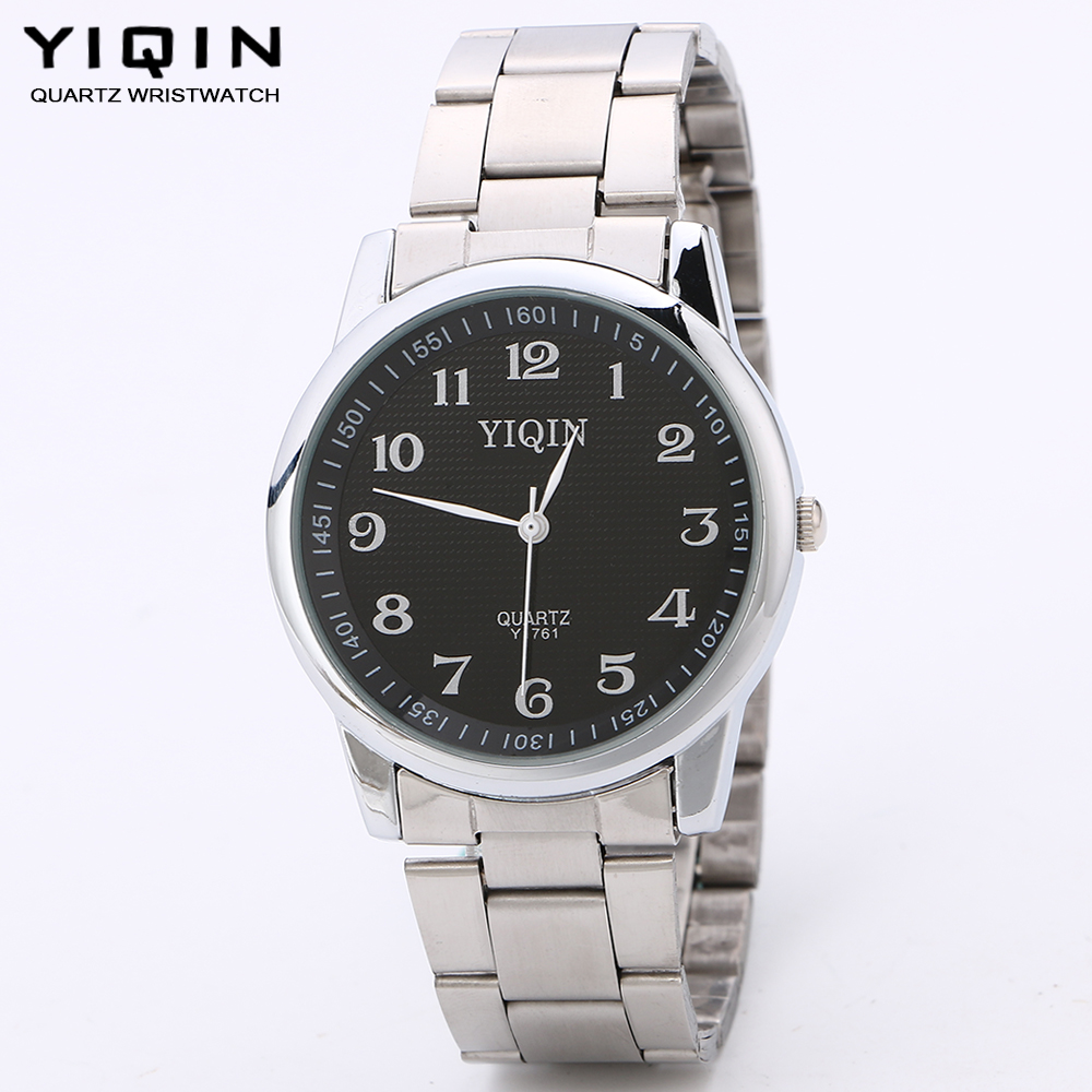 YIQIN Business watch men's fashion watches fine watches stainless steel Arabic numerals time watch casual fashion brand clock(China (Mainland))