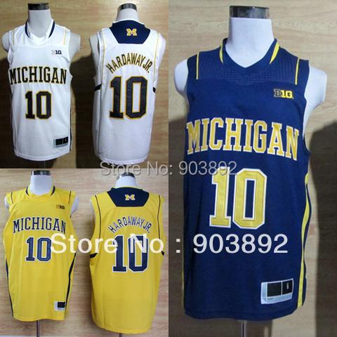 Ncaa Michigan Wolverines #10 Tim Hardaway Jr. college basketball jerseys mix order free shipping(China (Mainland))