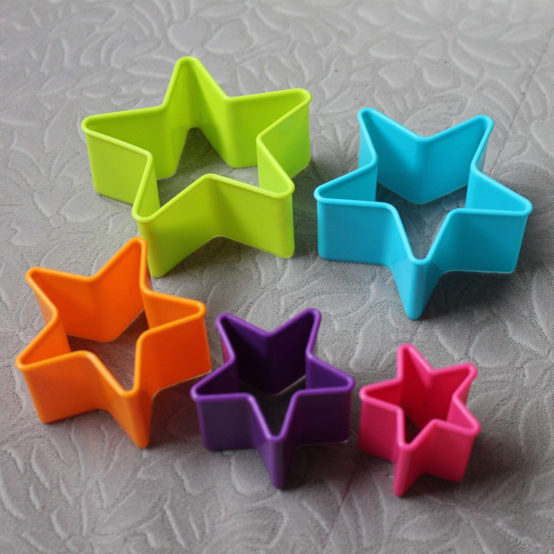 5pcs/set Star Shaped Cake Candy Cookies Cutter Mold Fondant Chocolate Embossing Mold DIY Kitchen Tools(China (Mainland))