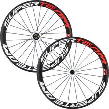 Superteam 700C 50mm matte clincher wheelset carbon road bike wheels 23mm width(China (Mainland))