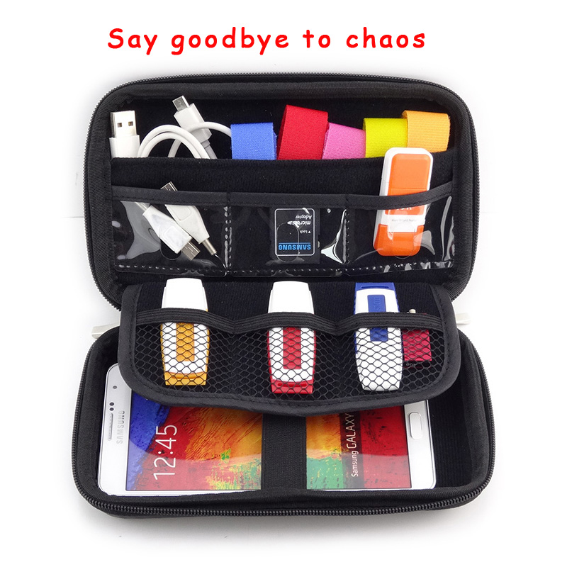 """Hot 2.5"""" Bag Case for External Hard Drive Disk/Electronics Cable Organizer Bag/Mp5 Portable HDD Case storage box GH1302(China (Mainland))"""