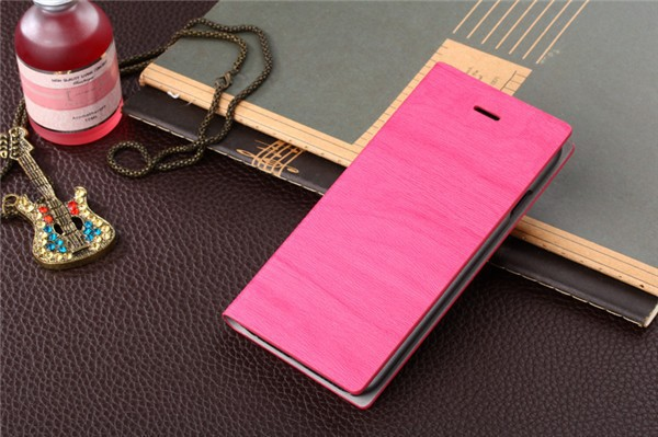 Hot Sale Elegant Wood Grain For HTC G17 Wallet Flip Phone Leather Case Cover With Stand And Card Slots Free Shipping(China (Mainland))