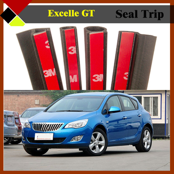 Rubber Weatherstrip Noise Control Seal Strip Sealing Hollow Waterproof Auto Door B/C Pillar Engine Trunk For Excelle GT